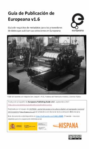 Guía de Publicación de Europeana v1.6 - Marzo 2017